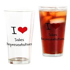I Love Sales Representatives Drinking Glass