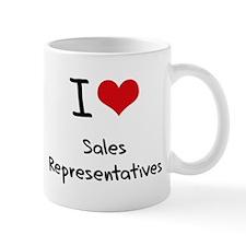 I Love Sales Representatives Small Mug