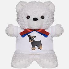 Cute Miniature Schnauzer Cartoon Teddy Bear