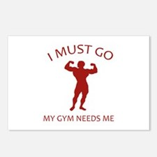 I Must Go. My Gym Needs Me. Postcards (Package of