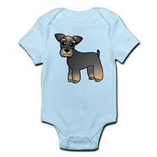 Cute Miniature Schnauzer Cartoon Body Suit