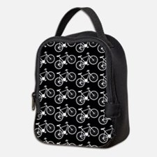 Bicycle Pattern Neoprene Lunch Bag