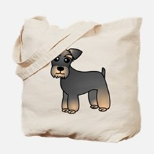 Cute Miniature Schnauzer Cartoon Tote Bag