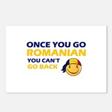 Funny Romanian flag designs Postcards (Package of