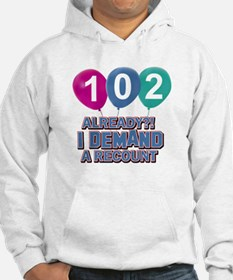 102 year old ballon designs Hoodie