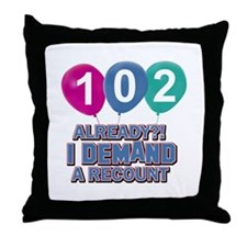 102 year old ballon designs Throw Pillow