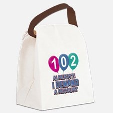 102 year old ballon designs Canvas Lunch Bag