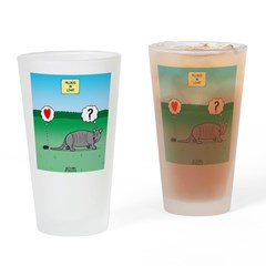 Pill Bug and Armadillo Drinking Glass