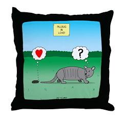 Pill Bug and Armadillo Throw Pillow