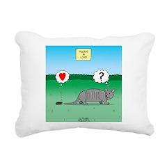 Pill Bug and Armadillo Rectangular Canvas Pillow