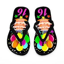COLORFUL 16TH Flip Flops