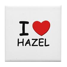 I love Hazel Tile Coaster