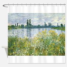 Claude Monet - Banks of the Seine Shower Curtain