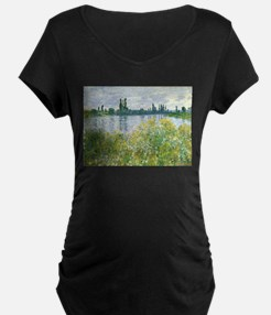 Claude Monet - Banks of the Seine Maternity T-Shir