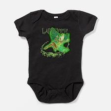 Dark Green Fairy Flying Baby Bodysuit