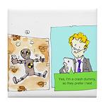 Crash Text Dummies Tile Coaster