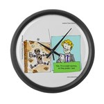 Crash Text Dummies Large Wall Clock