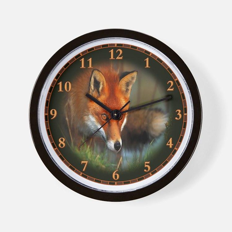 fox-clock Wall Clock