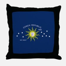 Conch Republic Flag Throw Pillow