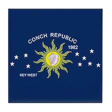 Conch Republic Flag Tile Coaster