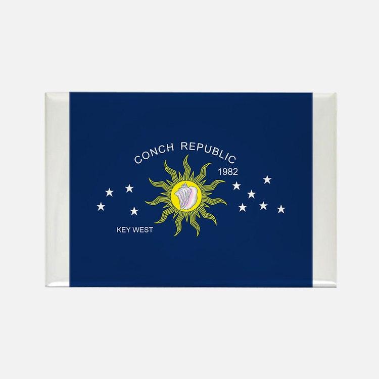 Conch Republic Flag Rectangle Magnet