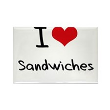 I Love Sandwiches Rectangle Magnet