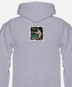 Mermaid Hooded Ash Gray Sweatshirt
