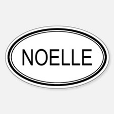 Noelle Oval Design Oval Decal