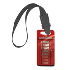 British Red Telephone Box Luggage Tag