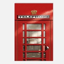 British Red Telephone Box Postcards (Package of 8)