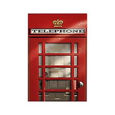 British Red Telephone Box Rectangle Magnet