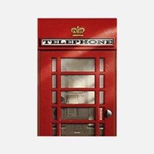 British Red Telephone Box Rectangle Magnet