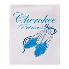 Turquoise Cherokee Princess Throw Blanket