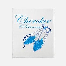 Turquoise Cherokee Princess Throw Blanket