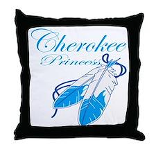 Turquoise Cherokee Princess Throw Pillow
