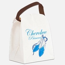 Turquoise Cherokee Princess Canvas Lunch Bag