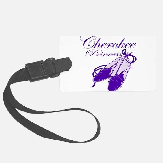 Purple Cherokee Princess Luggage Tag