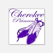 "Purple Cherokee Princess Square Sticker 3"" x 3"""