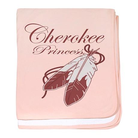 Pink Cherokee Princess Baby Blanket