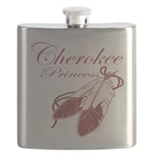 Pink Cherokee Princess Flask