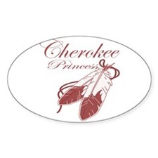 Pink Cherokee Princess Sticker (oval)
