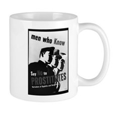 Say No To Prostitution - Wartime Poster Mug