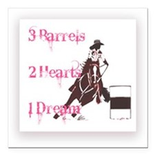 "Barrel Gal Square Car Magnet 3"" x 3"""