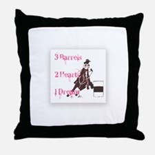Barrel Gal Throw Pillow
