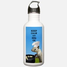 Keep Calm and BBQ On Squirrel Water Bottle