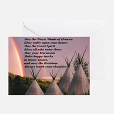 Cherokee Blessing Prayer Greeting Cards (Pk of 10)