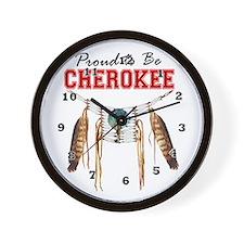Proud To Be Cherokee Wall Clock