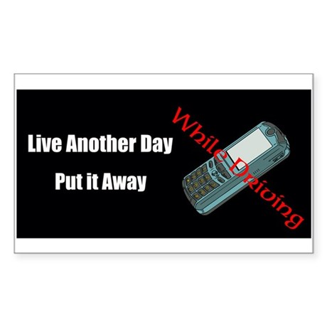 Live Another Day Sticker (Rectangle)