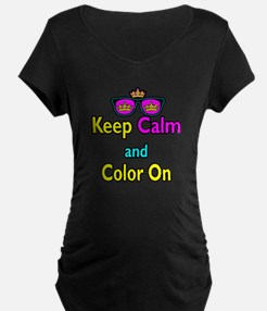 Crown Sunglasses Keep Calm And Color On T-Shirt