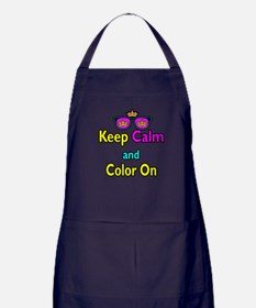 Crown Sunglasses Keep Calm And Color On Apron (dar